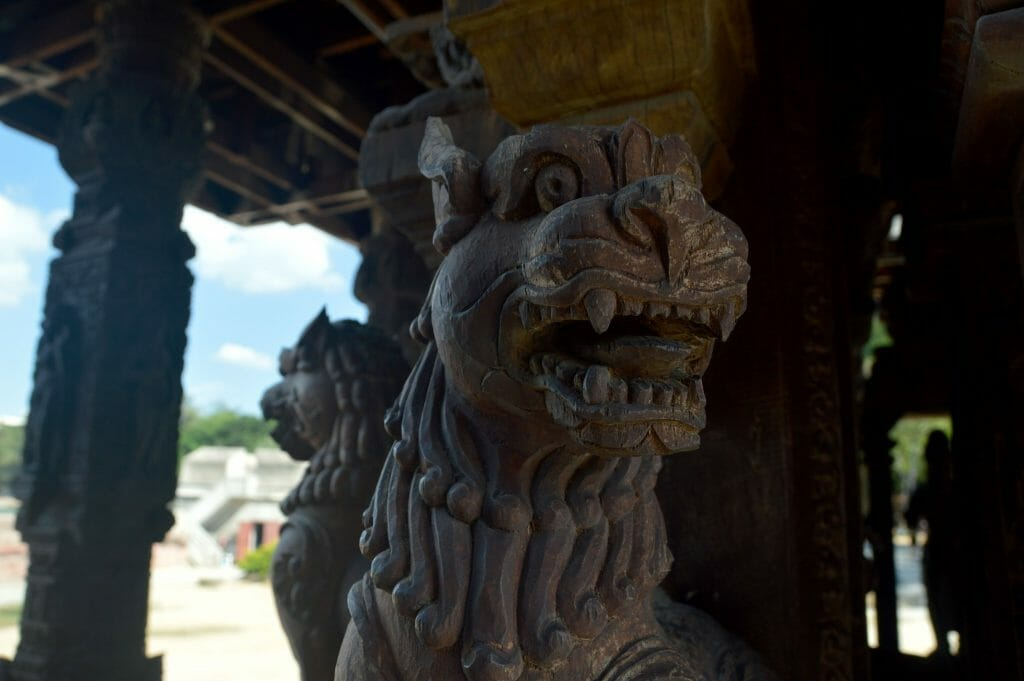Tiger Carving at Sanctuary of Truth, Pattaya, Thailand, November 2016 © Luchia Houghton