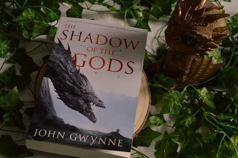 Shadow of the Gods by John Gwynne Proof and Smaug Pop